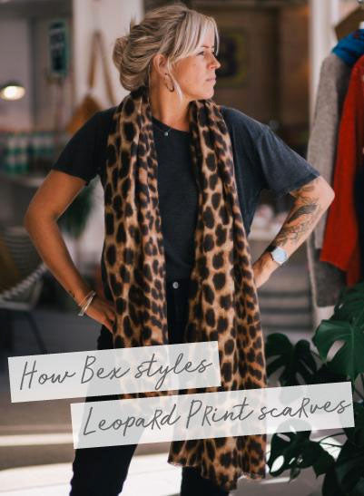 How to style a leopard print scarf
