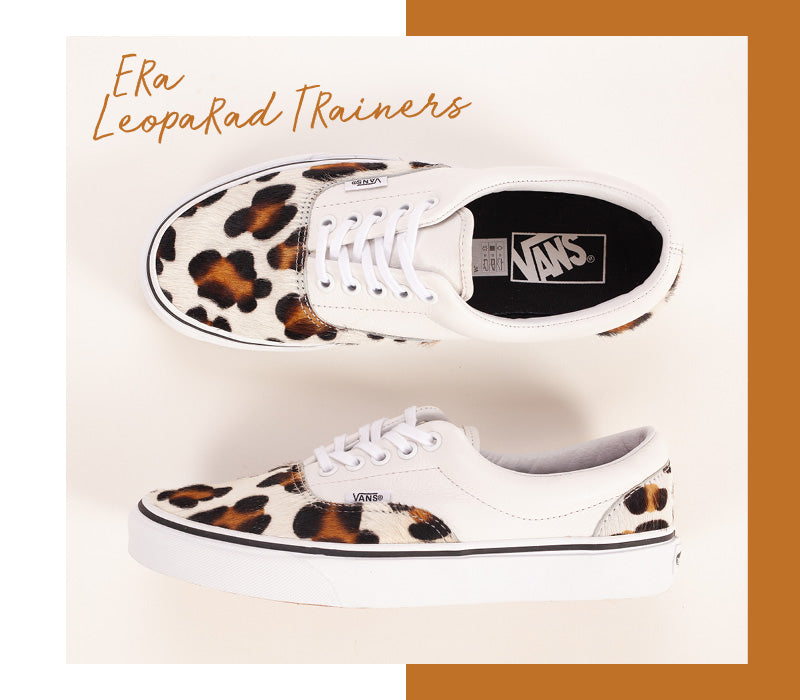 Vans Calf Hair Leopard Print Era Trainers