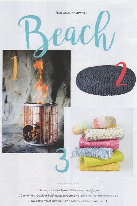 Roo's Beach Living Woolent Throws featured in MyCornwall Magzine