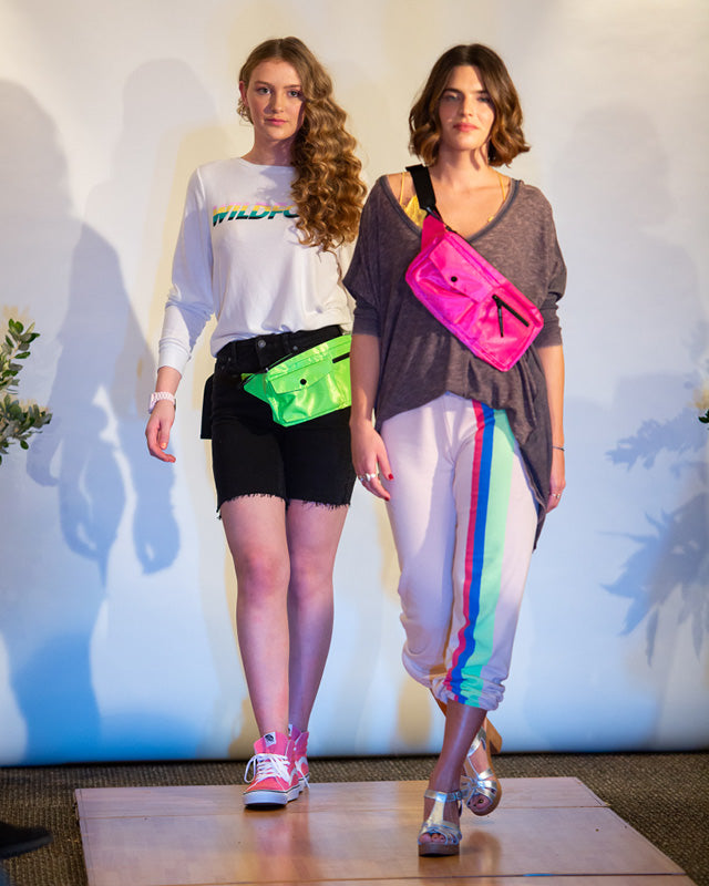 Models dressed for the So 90s category