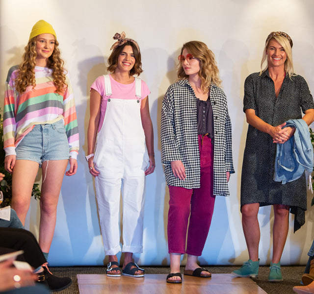 Four Models dressed for the Cornish Style Category