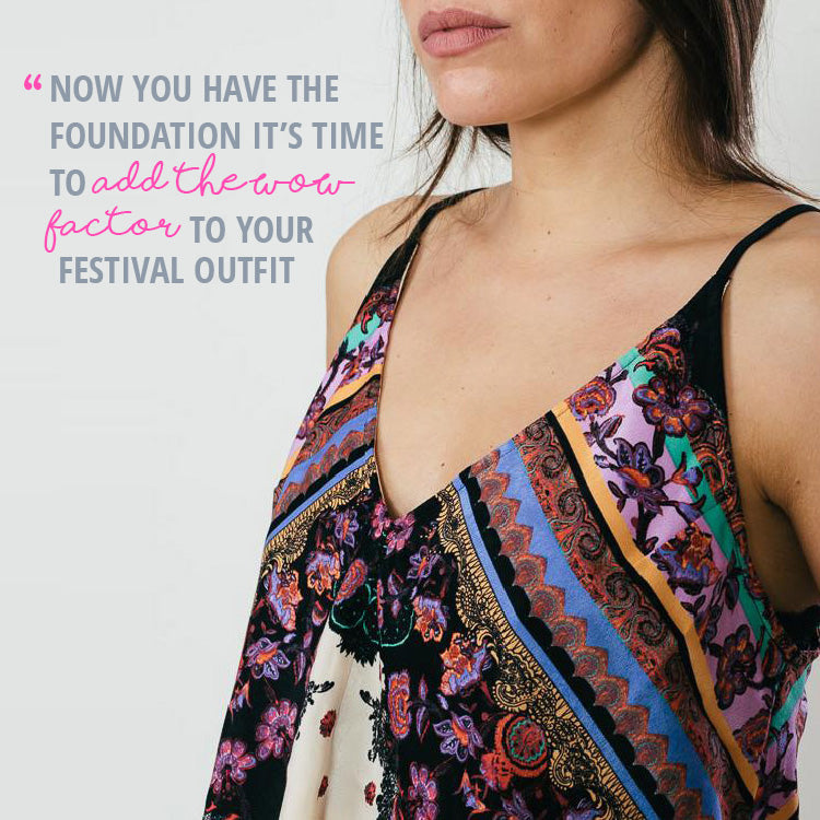 Roo's Festival Fashion Top Tips -  wear a cute Free People Cami top