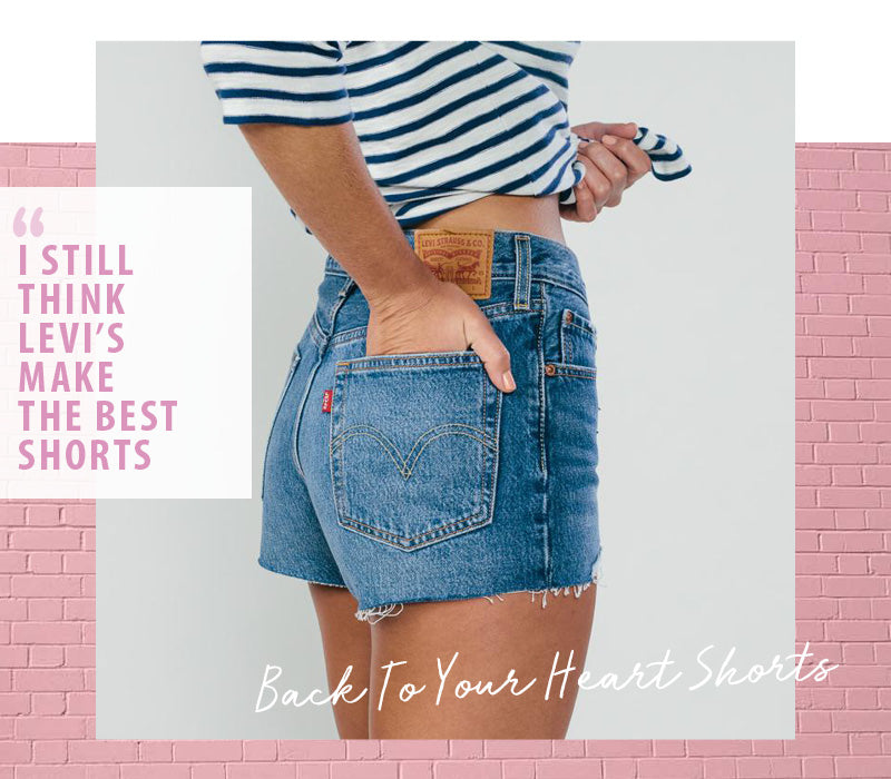 Levi's 501 Back To Your Heart Blue Denim Shorts