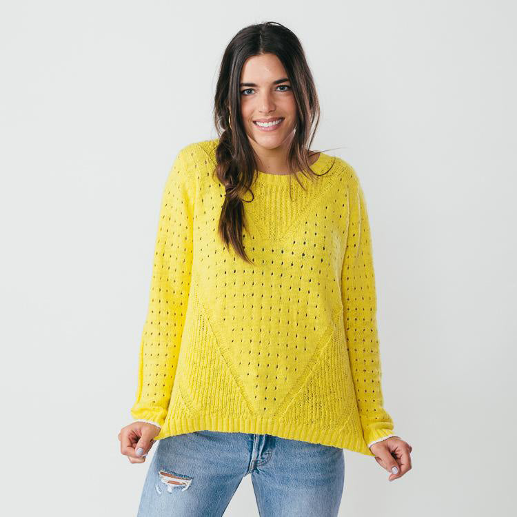 Hartford Makeup Sun Yellow Jumper