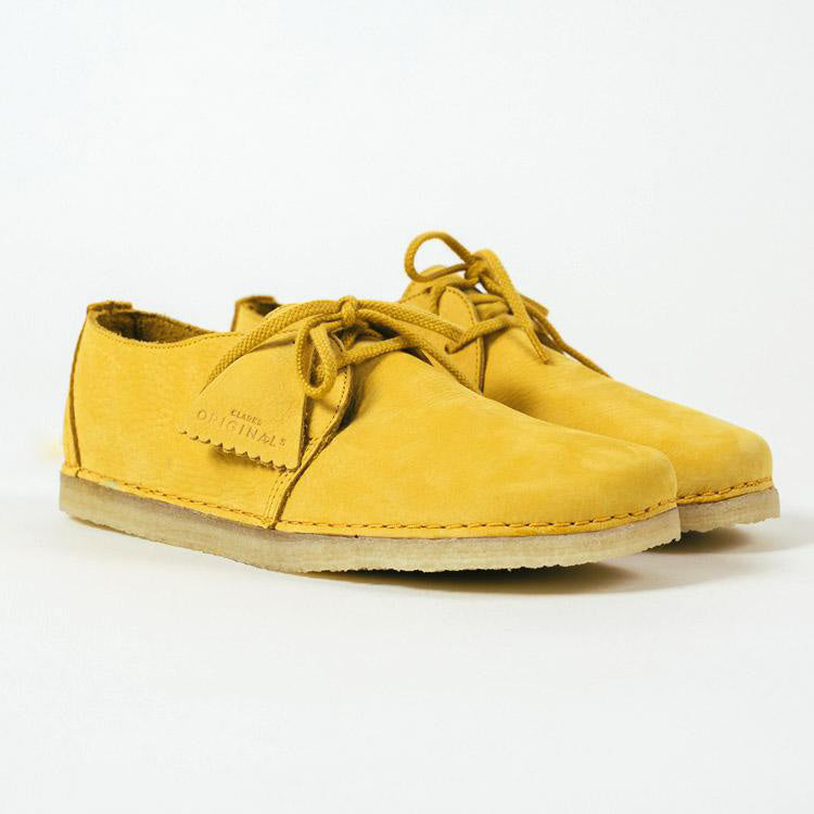 Clarks Originals Ashton Yellow Nubuck Shoes
