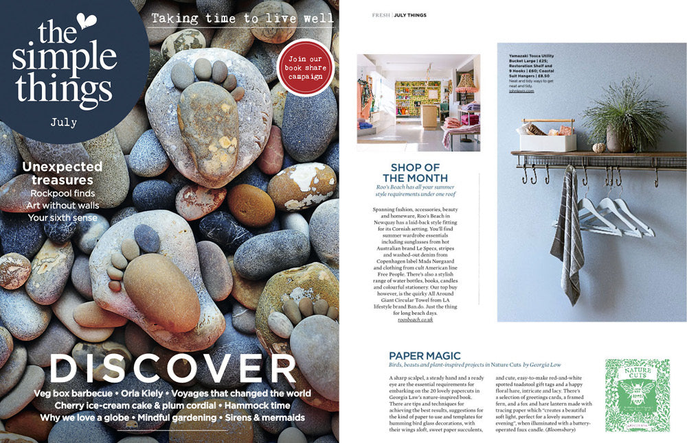 The Simple Things Magazine July 2018 | Roo's Beach listed as Shop of The Month