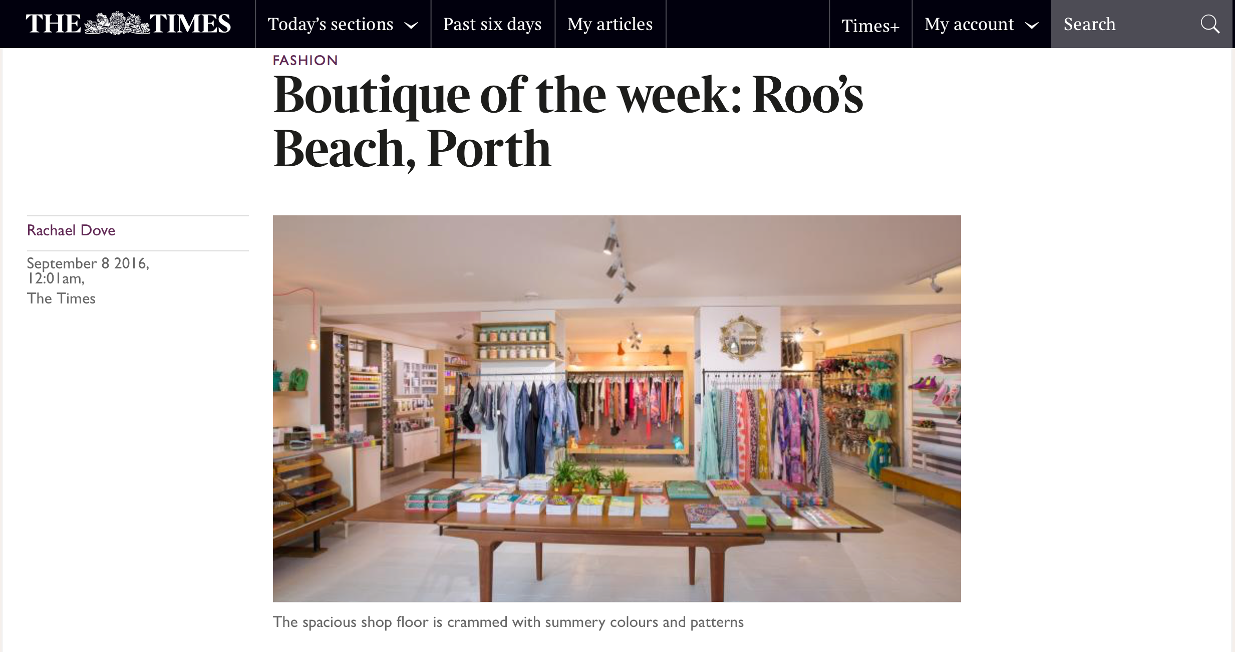 The Times Roos Beach Boutique of the Week