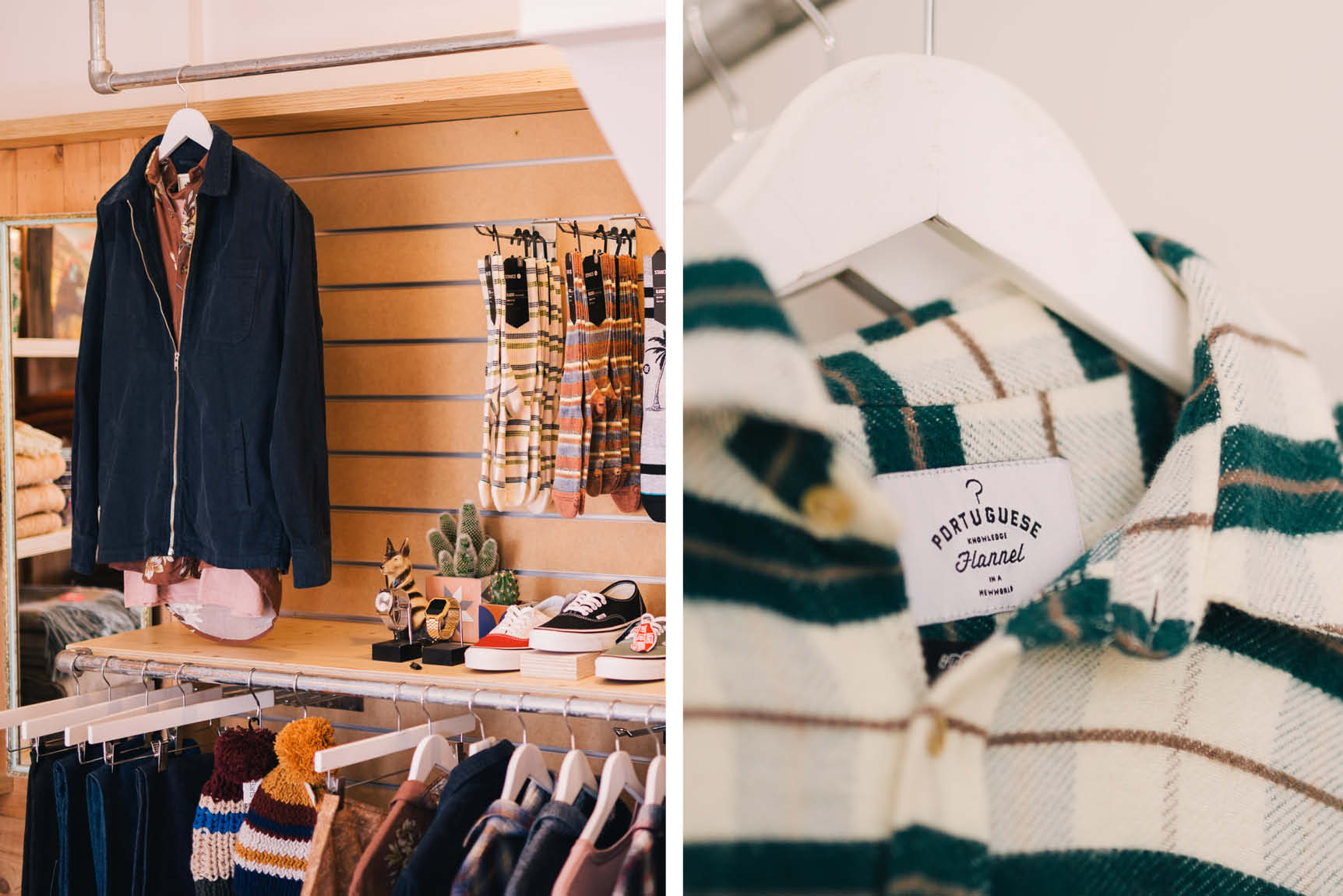 Shop the Menswear edit at Roo's Beach featuring Portuguese Flannel, Albam and Rhythm