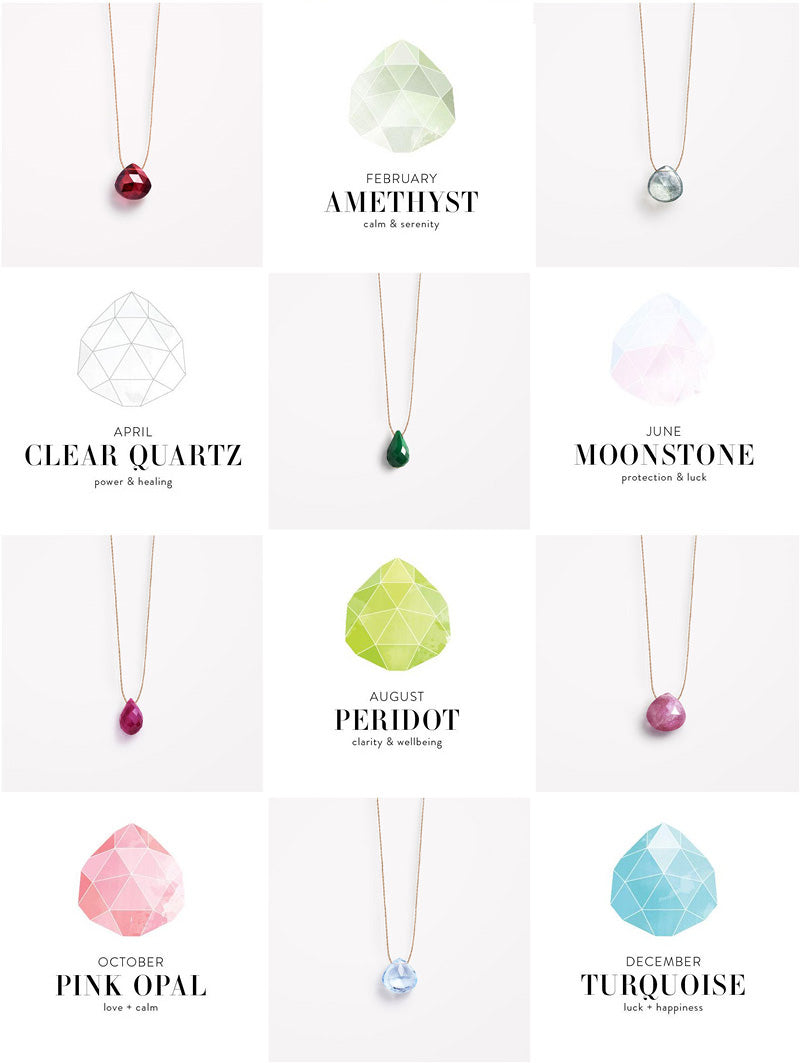 Wanderlust Life Birthstone guide | Shop online at Roo's Beach UK