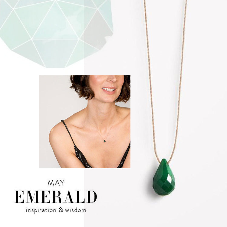 Wanderlust Life May Birthstone Emerald Necklace
