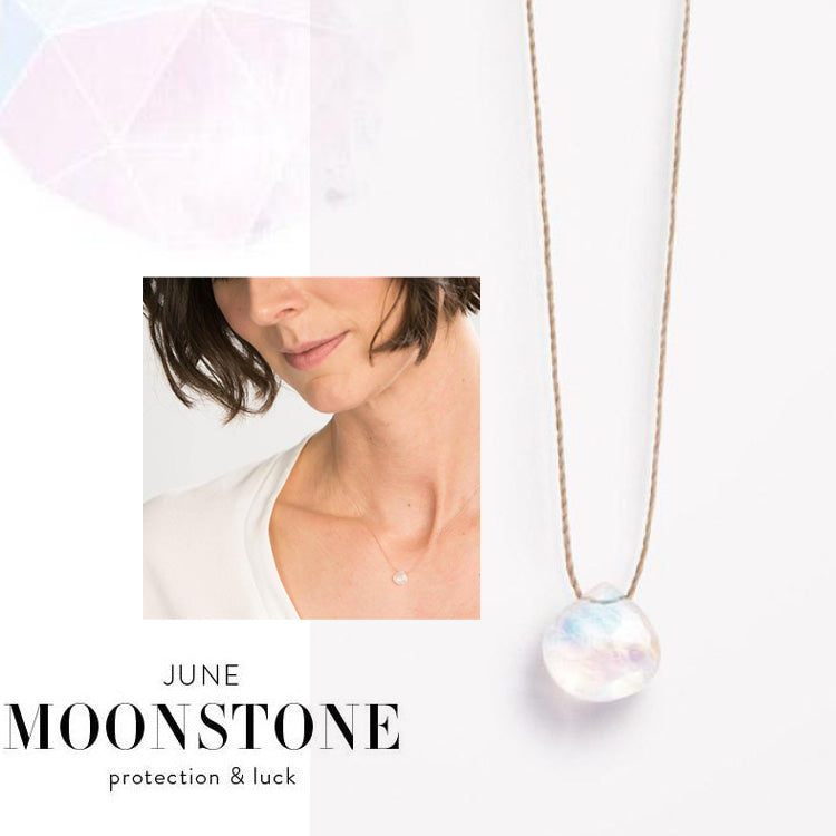 Wanderlust Life June Birthstone Moonstone Necklace