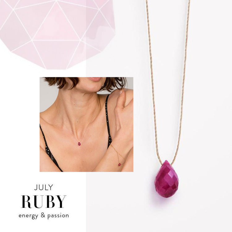 Wanderlust Life July Birthstone Ruby Necklace