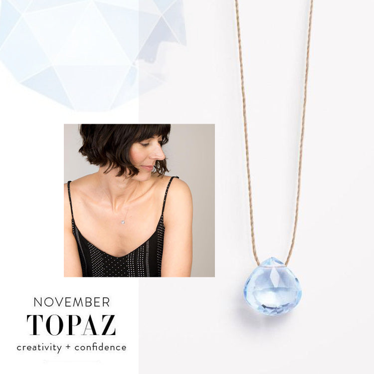 Wanderlust Life November Topaz Birthstone Necklace