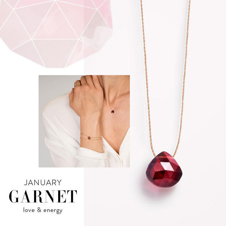 Wanderlust Life January Birthstone Garnet Necklace