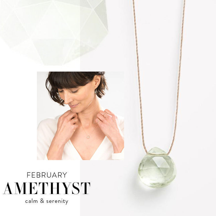 Wanderlust Life February Birthstone Amethyst Necklace