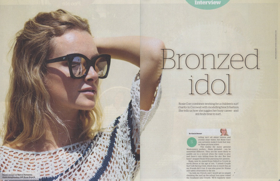 West Magazine 16th July 2016 | Bronzed Idol: featuring the model Rosie Corr & Roo's Beach