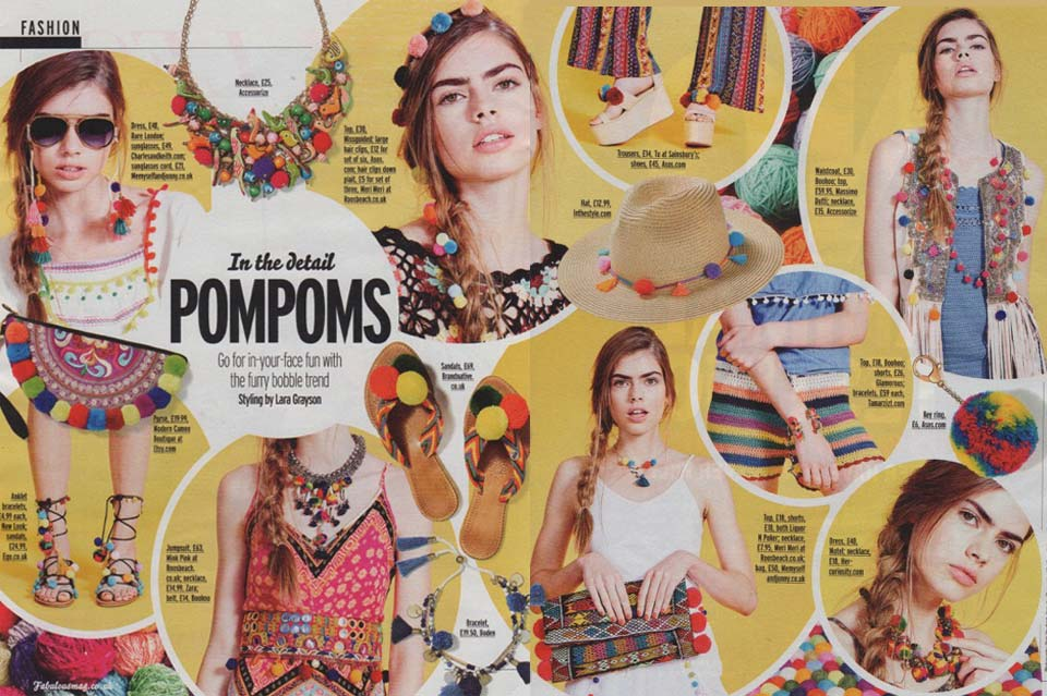 Fabulous Magazine July 2016 Spread: Feature: In The Details – Pom Pom