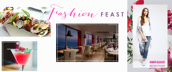 Join Roo's Beach for a Fashion Feast at the Bedruthan Steps on 15th April 2016