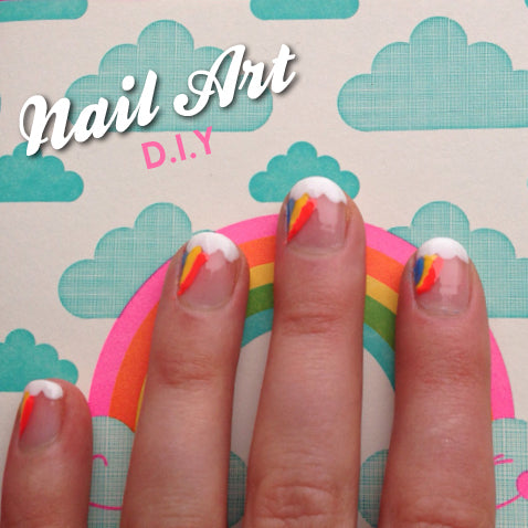 Rainbow Nails – Nail Art Tutorial from Too's Beach UK