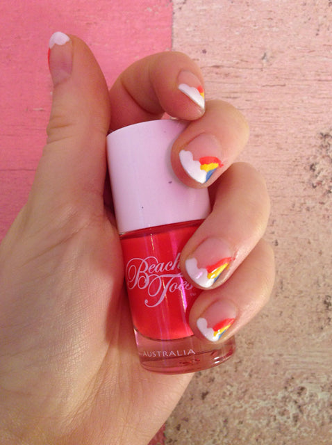 Rainbow Nail Art Tutorial – Step 4