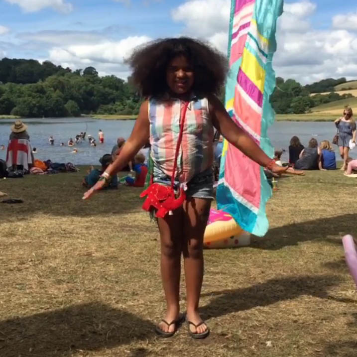 Meet 'Sunshine' she has totally made our day at The Port Eliot Festival