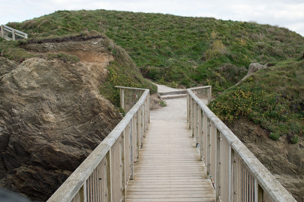 Footbridge Porth Island, Newquay Cornwall