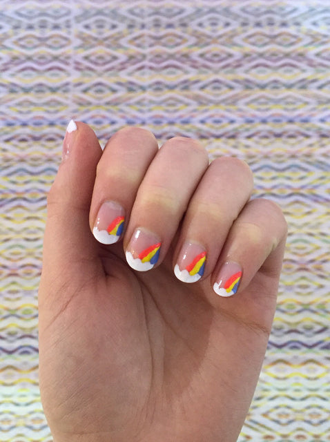 Rainbow Nail Art Tutorial from Roo's Beach UK
