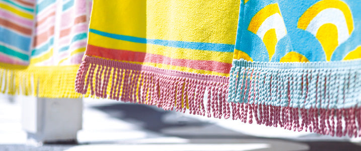 Roo's Beach Fringed Beach Towel Collection