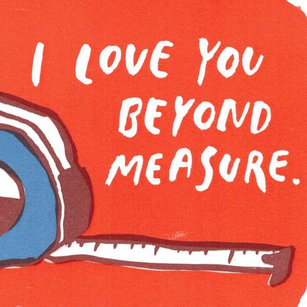 Egg Press I Love You Beyond Measure Greetings Card - close up
