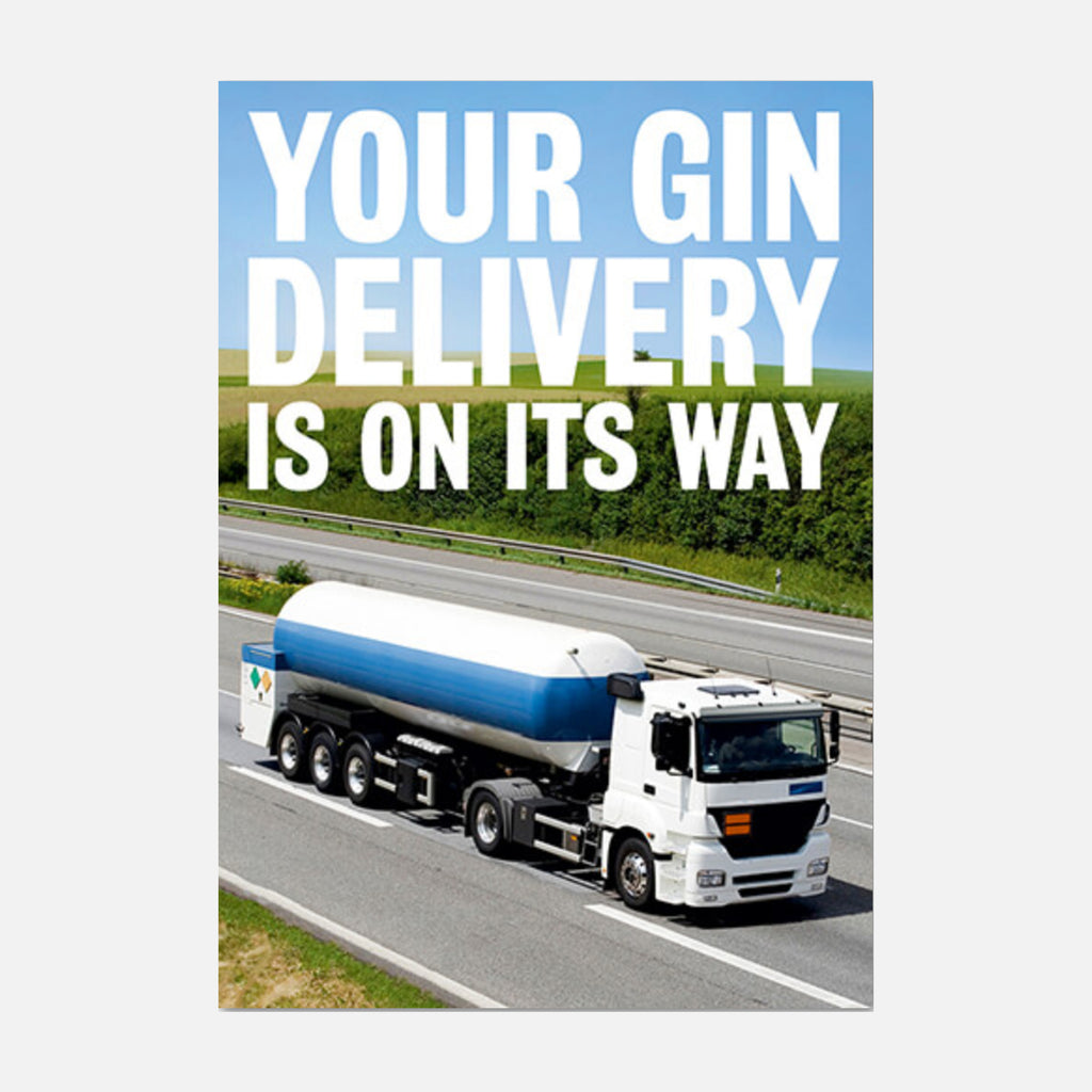 Dean Morris Cards Gin Delivery Greetings Card