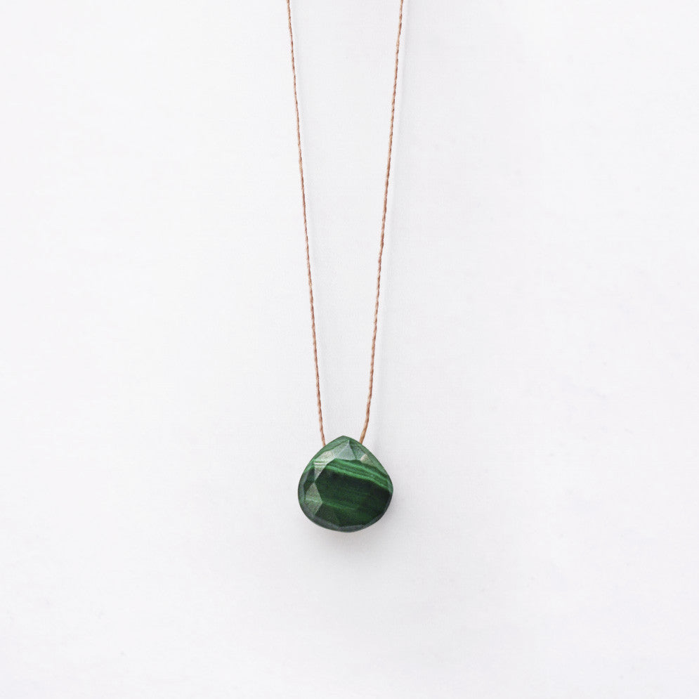 Wanderlust Life Green Malachite Necklace
