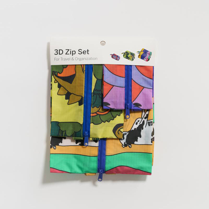 Baggu Animal Friends 3D Zip Bag Set