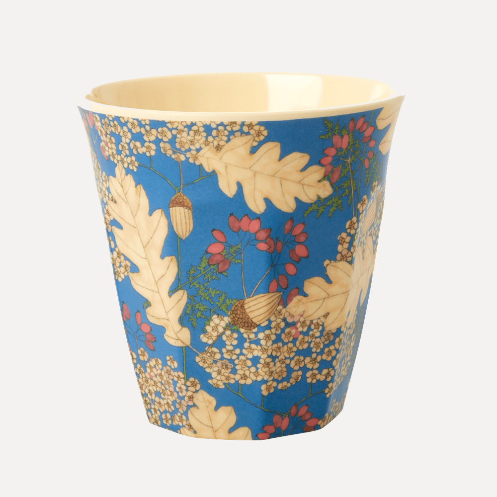 RICE Medium Autumn and Acorns Print Melamine Cup