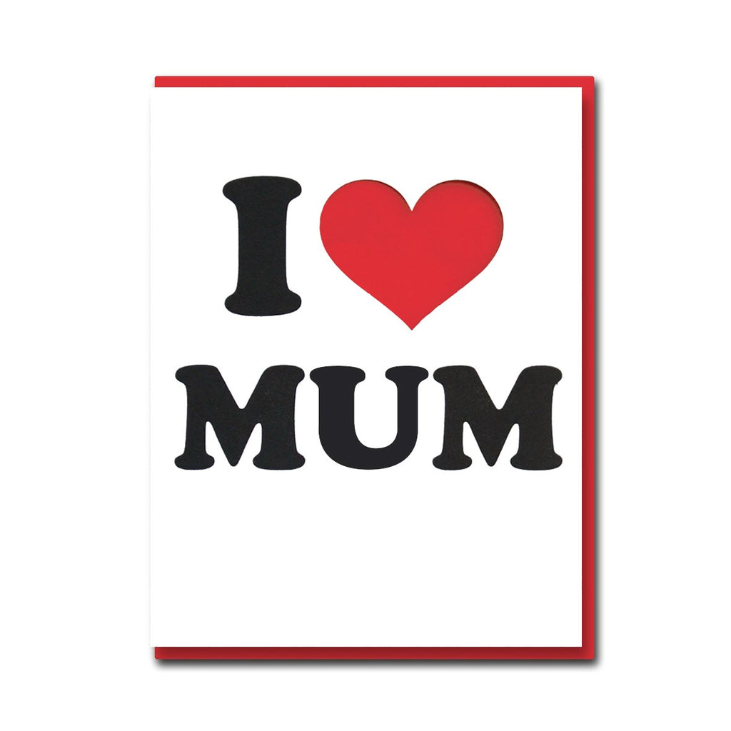 1973 I Heart Mum Card