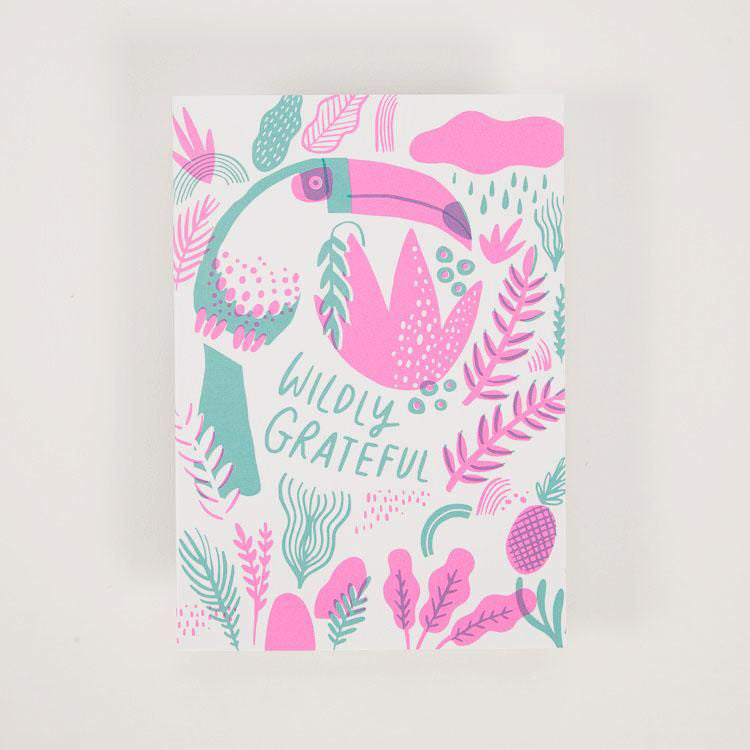 Hello! Lucky Wildly Grateful Greetings Card