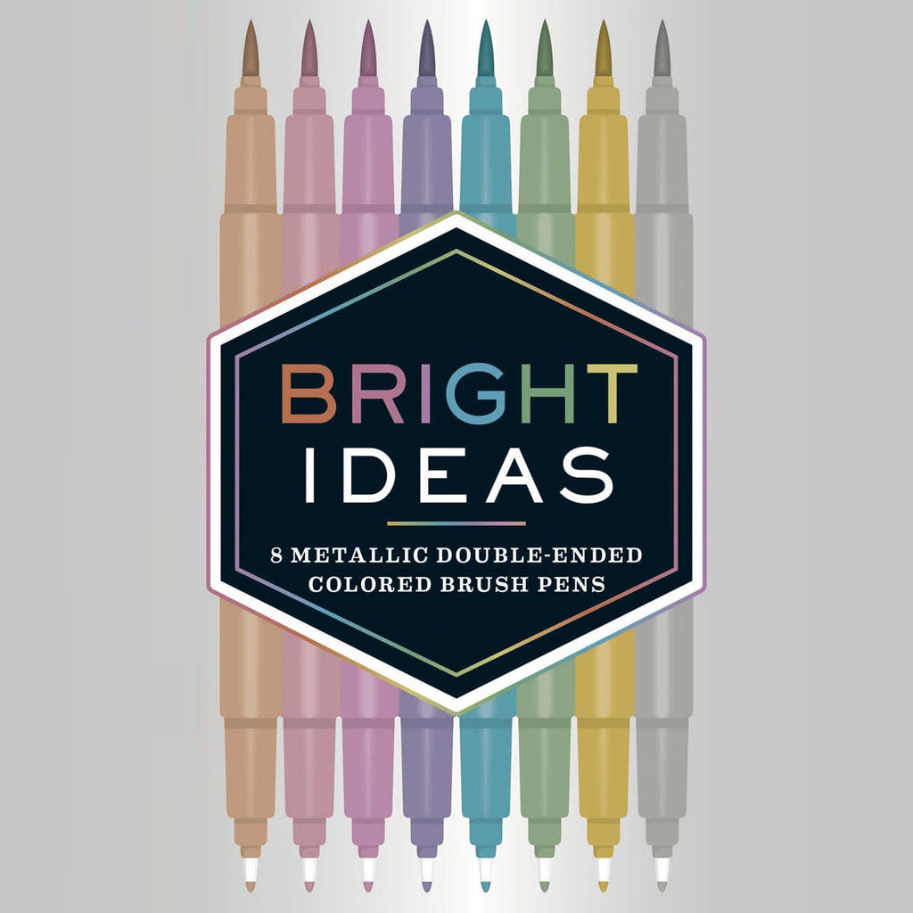 Bright Ideas Metallic Double-Ended Coloured Brush Pens