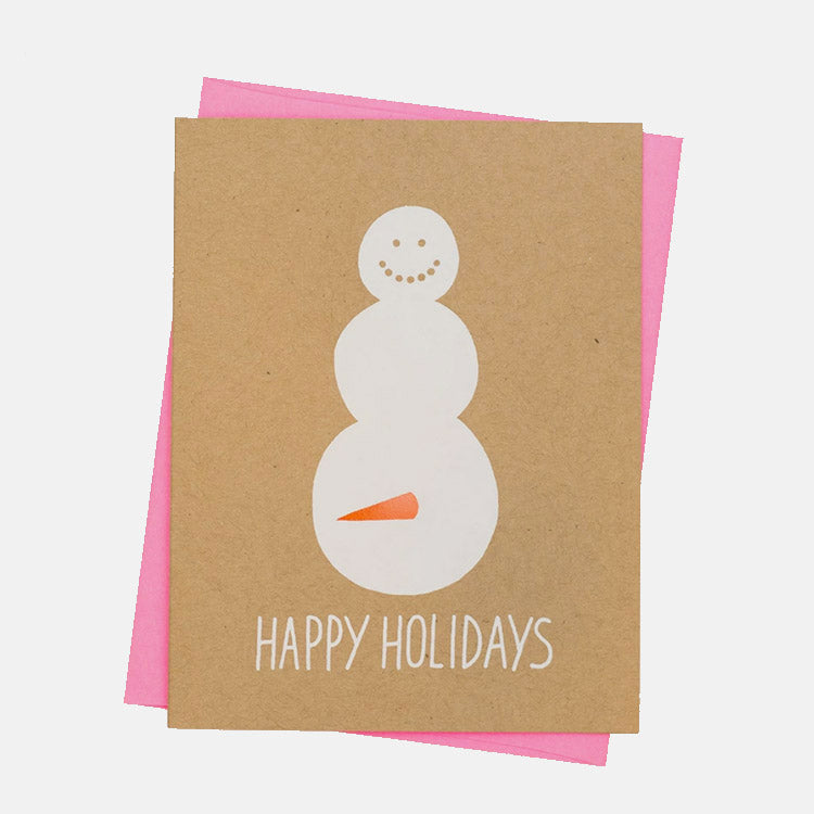 Ashkahn Happy Snowman Greetings Card
