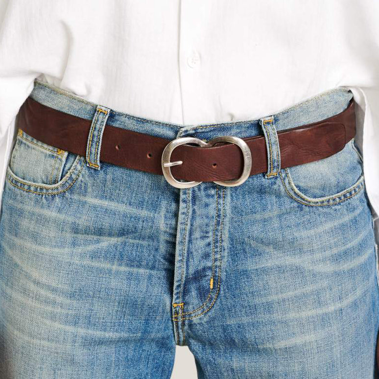 Bellerose Sabas Brown Leather Belt