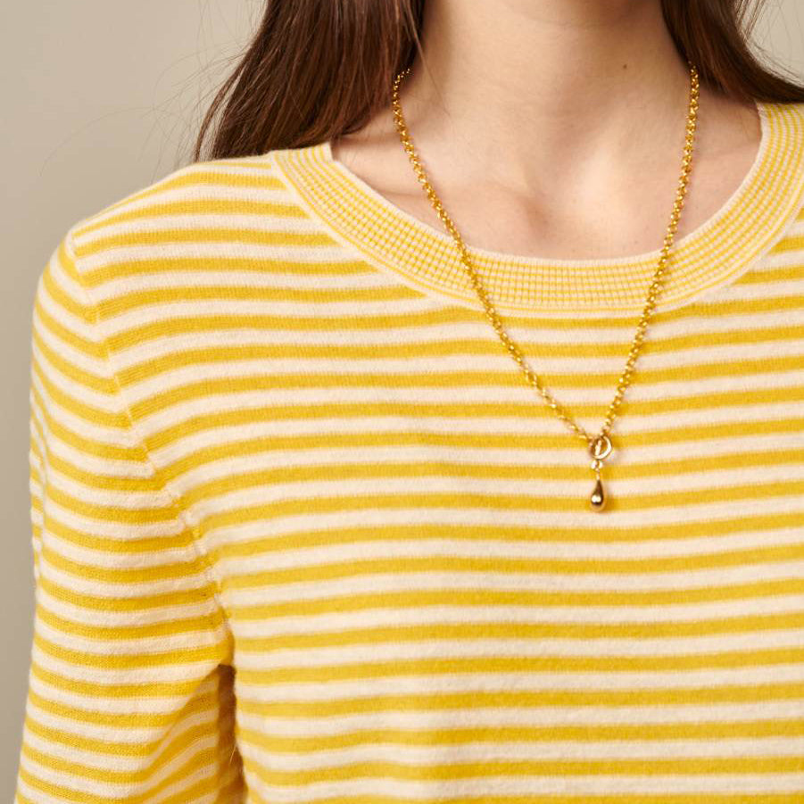 Bellerose Gops Yellow Striped Knitted Sweater