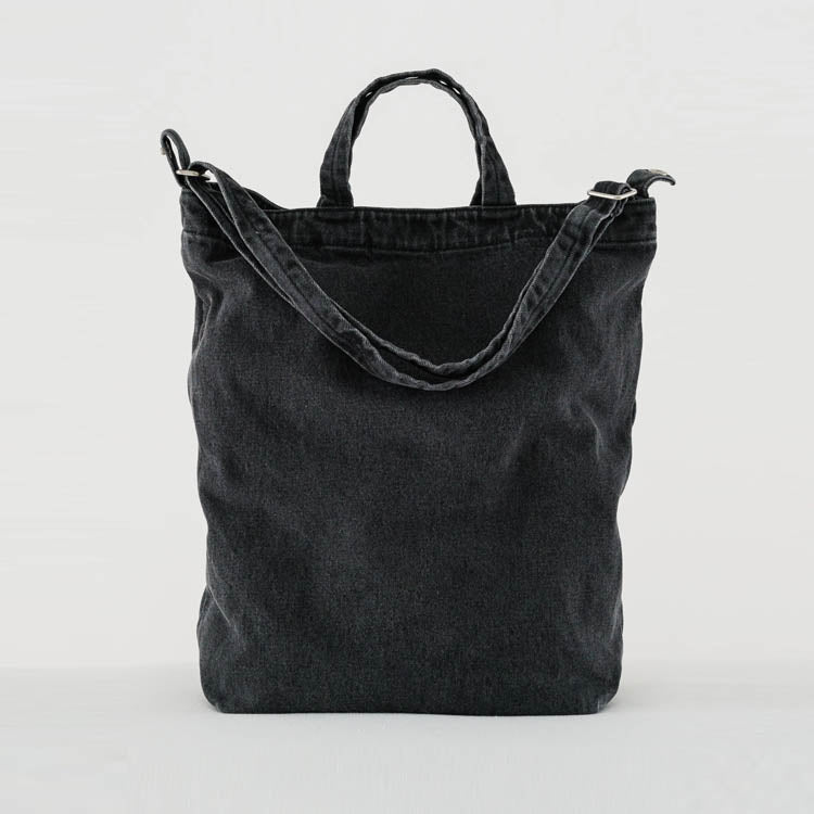 Baggu Washed Black Denim Duck Bag