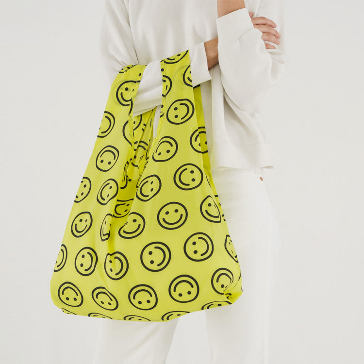 Baggu Yellow Happy Face Standard Reusable Bag