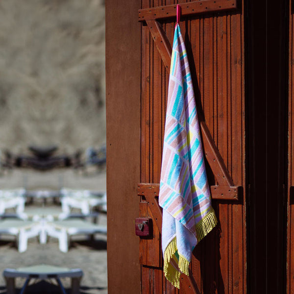 Chevron Daze Fringed Beach Towel - Roo's Beach UK