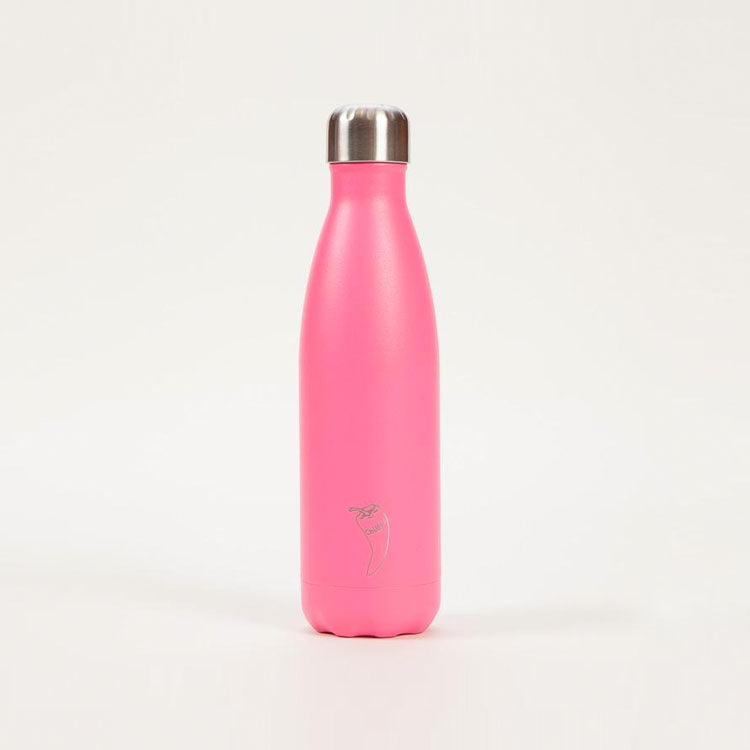 Product shot: Chilly's Bottle Neon Pink Drinking Bottle 500ml