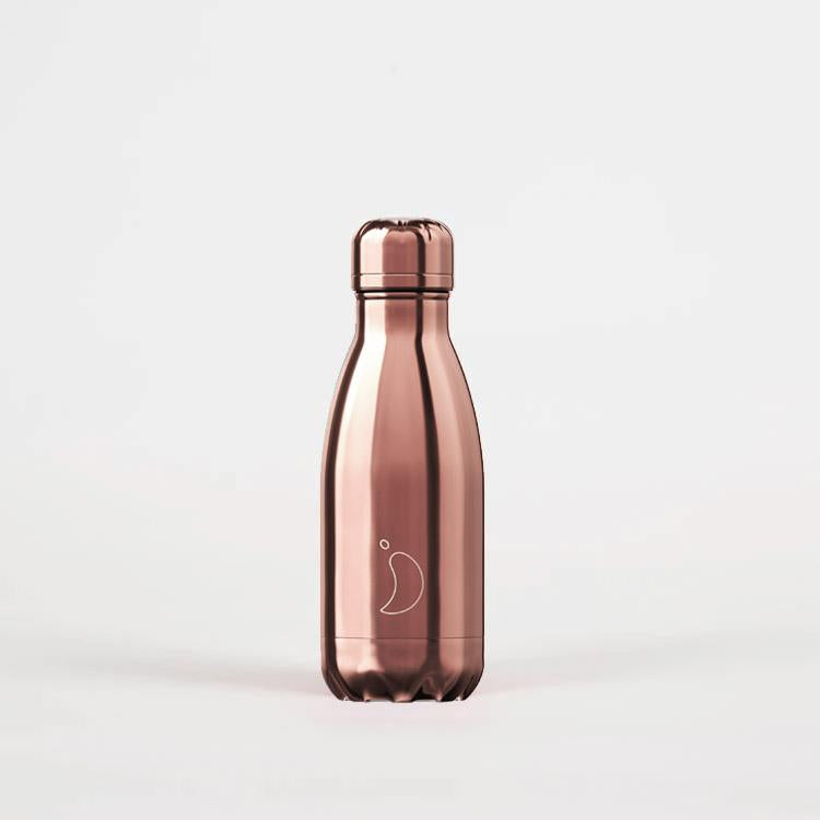 Chilly's Chrome Edition Rose Gold Drinking Bottle 260ml