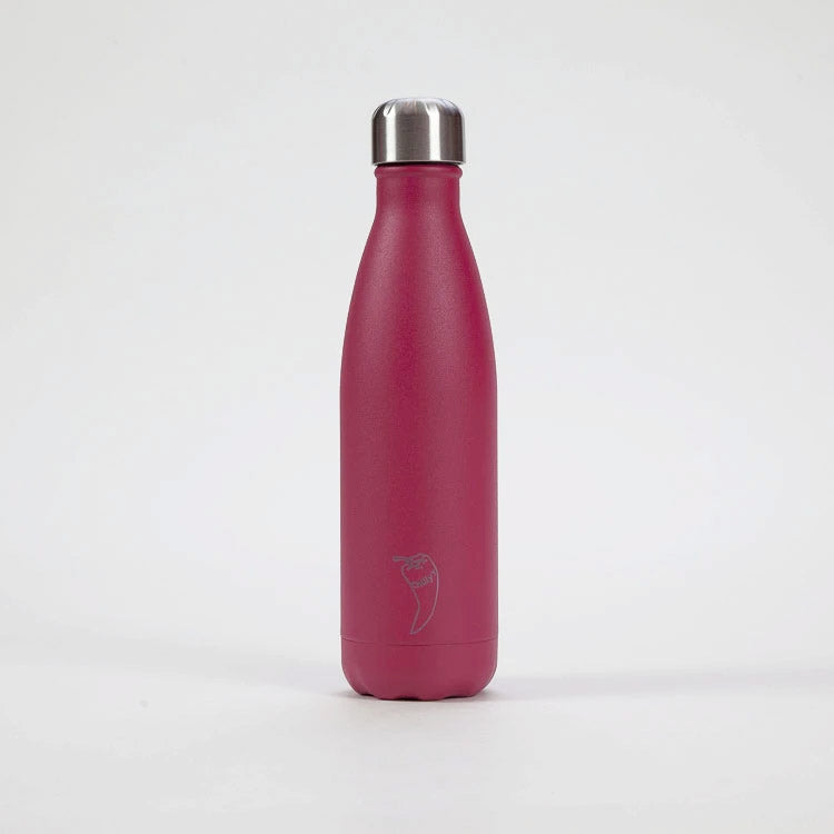 Chilly's Matte Pink Drinking Bottle 500ml