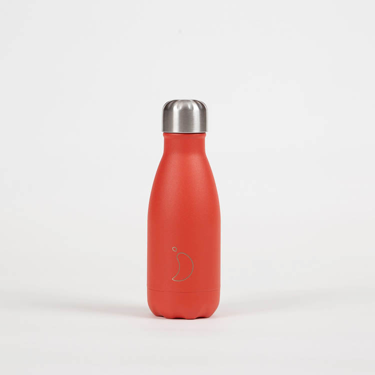 Chilly's Neon Red Drinking Bottle 260ml