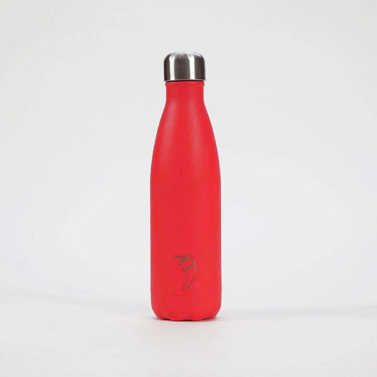 Chilly's Neon Red Drinking Bottle 500ml