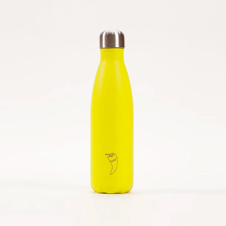 Chilly's Neon Yellow Drinking Bottle 500ml