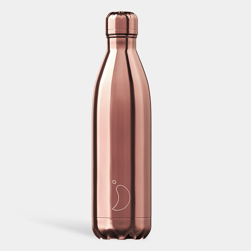 Chilly's Chrome Rose Gold Drinking Bottle 750ml