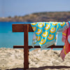 Make a beach side statement with the Ebb & Flow Fringed Beach Towel designed exclusively by Roo's Beach